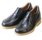 背が高くなる靴 牛革カジュアルアップ'70 スリッポンサイドゴア5.5cmUP No523
