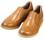 背が高くなる靴 牛革カジュアルアップ'70 スリッポンサイドゴア7cmUP No523